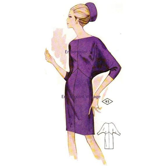 Plus Size (or any size) Vintage 1969 Dress Pattern - PDF - Pattern No 92 Bonita