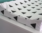 black triangles contoured changing pad cover