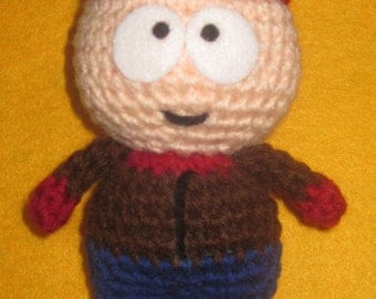 Adorable crochet Amigurumi South Park Stan Marsh
