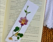Orchid Bookmark, Pressed Flowers