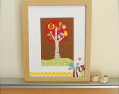 Colorful Wall Art, Eco Friendly Collage for Kids
