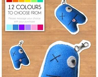 """Mini Felt Monster Plush Keyring by BABUA - """"Patrick"""" - 12 Colors"""