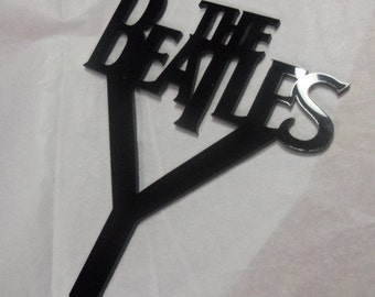 The Beatles cake topper,beatles party favor,laser cut cake top,beatles charms,Let it Be