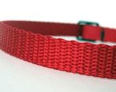 "Red 3/8"" Nylon Webbing for Cat or Dog Collars - 25 ft (8+ yds)"
