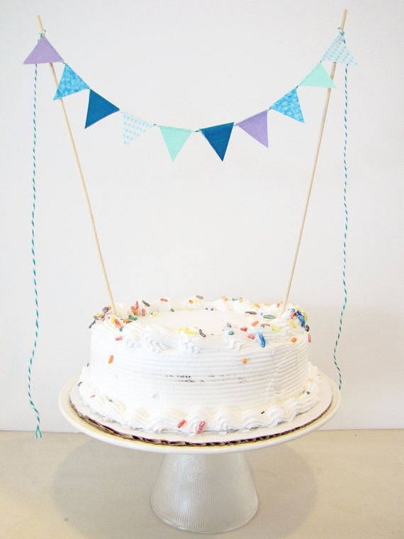 Fabric Cake Bunting Decoration Cake Topper Wedding