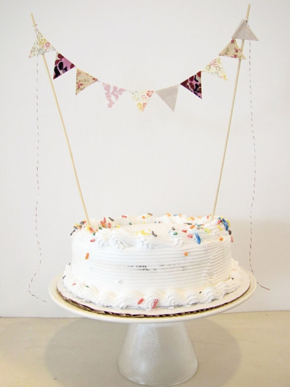 wedding cake bunting topper fabric cake bunting decoration cake topper wedding 22127