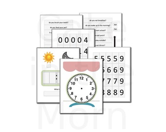 Clock File Folder Game - Teaching Time Lesson Plan - Homeschool Math - Telling Time Unit - Printable Games
