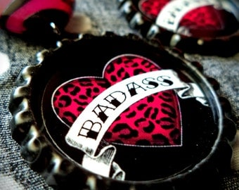 Tattooed Collection: BADASS earrings