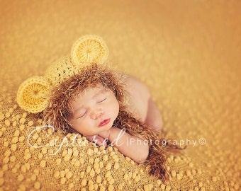 Baby Boy Hat NEWBORN LION Cub Hat CROCHET Knit Baby Boy Hat Diaper Cover available