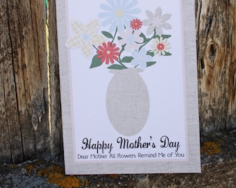 Mother's Day Card - Printable - PDF - DIY