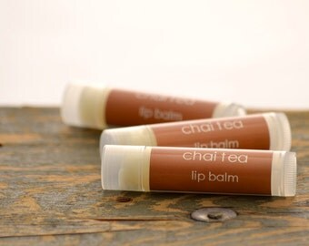 Chai Tea Lip Balm - chai lip balm - tea lip balm - chai tea flavor - food lip balm - fall lip balm - bakery lip balm