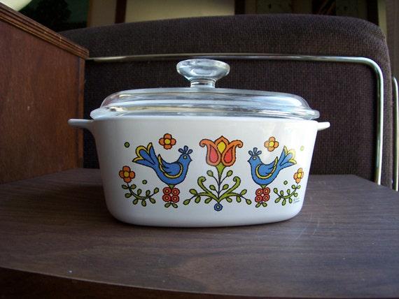 Vintage Corningware Friendship Pattern 1975 By