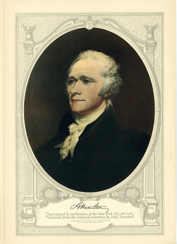 Alexander hamilton lithograph famous american series no 4 for Alexander manufacturing company