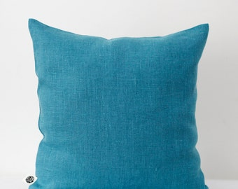 4 Decorative pillow covers turquoise - blue decorative pillows - shams - cushion case - decorative cushion cases - pillows set for sofa 0056