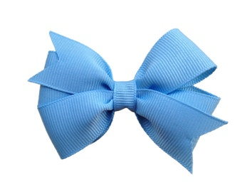 Light blue hair bow - 3 inch light blue bow