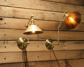 As seen on HBO's Boardwalk Empire - Brass Wall Mount Light - Adjustable Wall Lamp