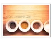 Spices Photography 8x12, Kitchen Art Still Life, Diner Recipe, Cooking, brown, beige, gold, circles, zen, Silk Road