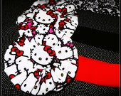 Hello Kitty Stretchy Headband (Choice of Red or Black Stretchy Headband) Women Teen Youth Girls Toddler Baby