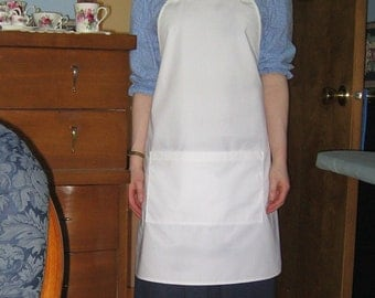 Made to Order White Chef's Apron