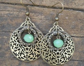 Sea Brass Filigree Dangles