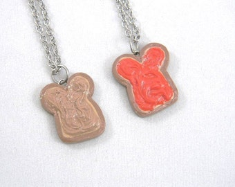 Friendship Necklaces Peanut Butter and Strawberry Jam