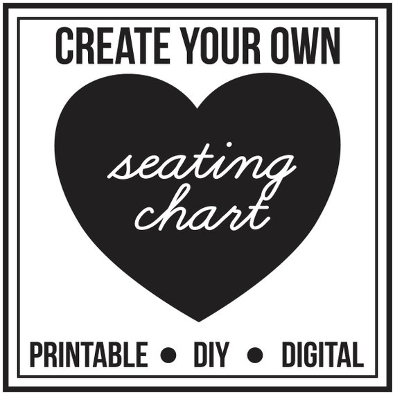 Baby Shower Seating: Printable Birthday Party Seating Chart