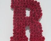 """Gorgeous Flower Monogram Letter R 18"""""""