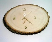 Clock, Log Slice Clock, Rustic Clock, Primitive Clock, Wood Clock