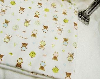 Bear Friends and Trees Cotton Interlock Knit per Yard 33674