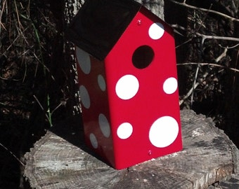 Large Polka Dot Birdhouse