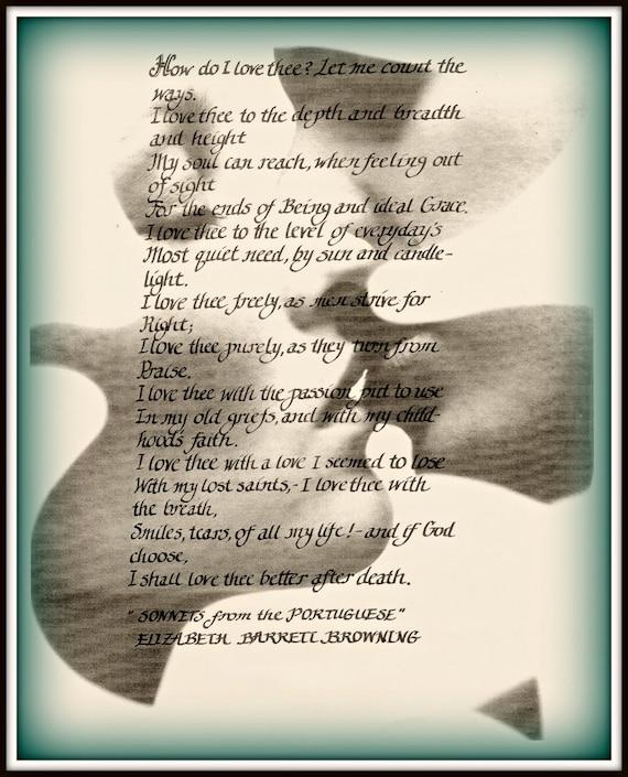 Box Of Love Poem : Love poem elizabeth barrett browning print