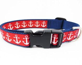 Large Anchor Dog Collar