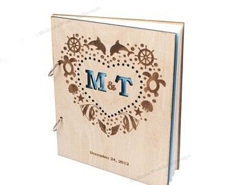 Nautical Custom Wedding Guest Book
