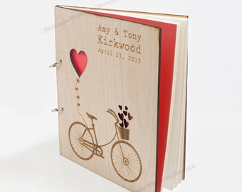 Love Bike Wedding Guest Book or Bridal Shower Advice Book Christmas Gift