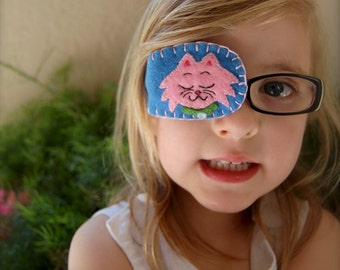 Felt Eye Patches for Children - Plain or with Custom Design and choice of wool or snythetic felt - Made to Order