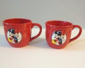Vintage Mickey Mouse  And Minnie Mouse Hallmark Coffee Mugs Cups