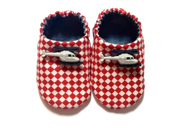 Helicopter Baby Boy Shoes, Baby Booties, Baby Gift