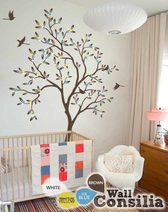 Baby Nursery Tree Wall Decal Wall Sticker Tree Wall Decal - Kids tree wall decals