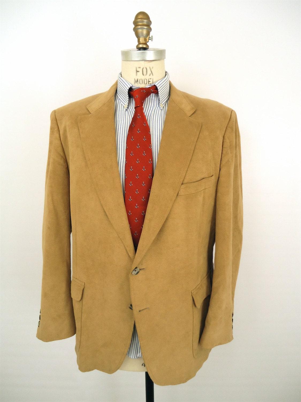 Camel Suede Blazer / vintage tan suede jacket