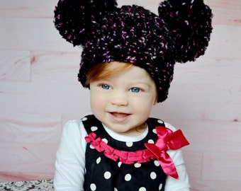 Baby Hat 11 Colors 9 to 12 Month Baby Girl Hat Baby Boy Hat Pom Pom Hat Animal Ear Hat Baby Clothes Adorable Photo Prop Photography Prop