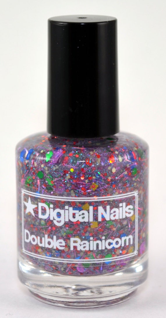 Double Rainicorn: a Digital Nails Nail lacquer inspired by Lady Rainicorn of Adventure Time