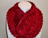 Red Infinity Scarf - Neck Warmer