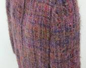 NIKOS hand woven - Wool Vintage Boho Hippie Long Tunic  Duster  Knee-length Jacket  Coat - Nettetiques