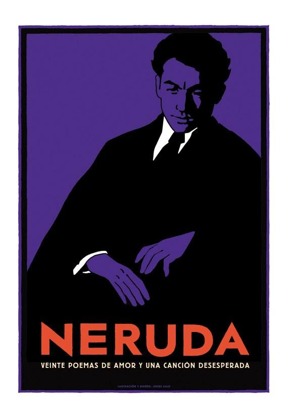 Free shipping Pablo Neruda poster