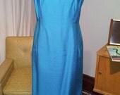 Vintage 1960s Dress & Jacket // Peacock Blue // Mad Men Jackie // L