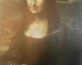 Mona Lisa by Italian Artist Leonardo da Vinci Vintage Art Print, 1966