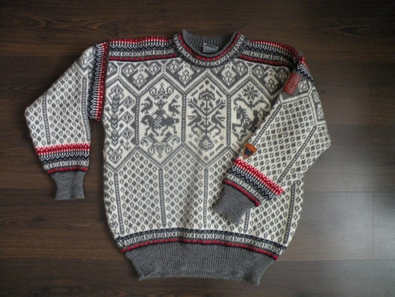 "DALE OF NORWAY Rare ""Lillehammer"" Olympics Wool Sweater M"