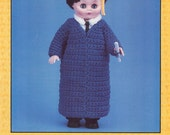 "Graduate Jeffrey CollectibleVintage Crochet 13"" Doll"