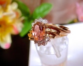 75% OFF Pink Sapphire & Diamond Ring 1.08ctw, Solid 14k Gold. (Value 3,000 USD)
