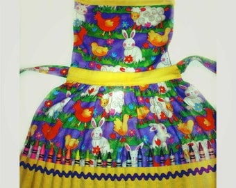 Easter - Cute Animal Crayon Playtime Apron